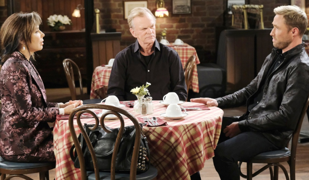 Kate and Roman listen to Rex on Days of Our Lives