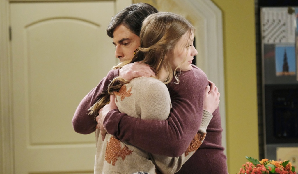 Lucas hugs Allie on Days of Our Lives