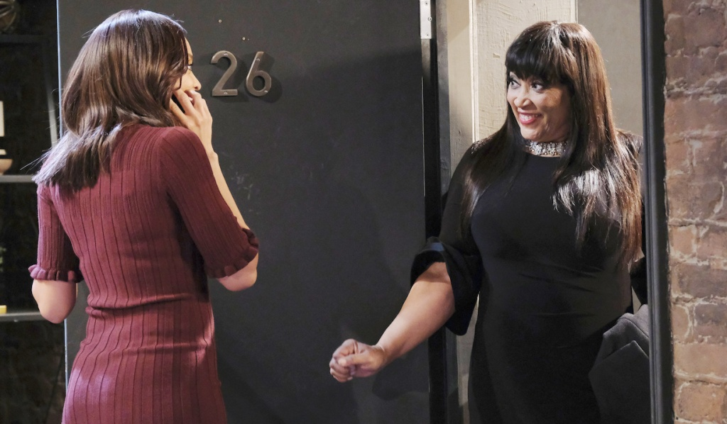 Lani opens the door to Paulina on Days of Our Lives