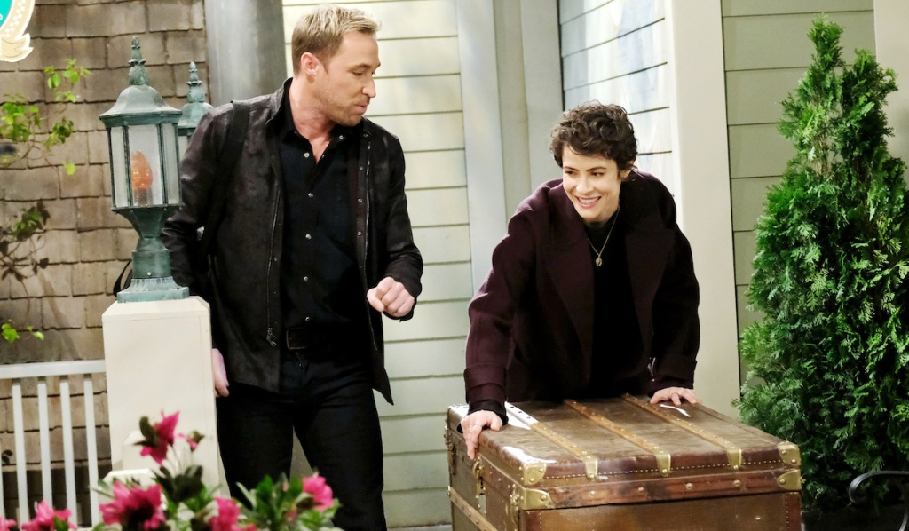 """Rex sees """"Sarah"""" pushing a trunk on Days of Our Lives"""