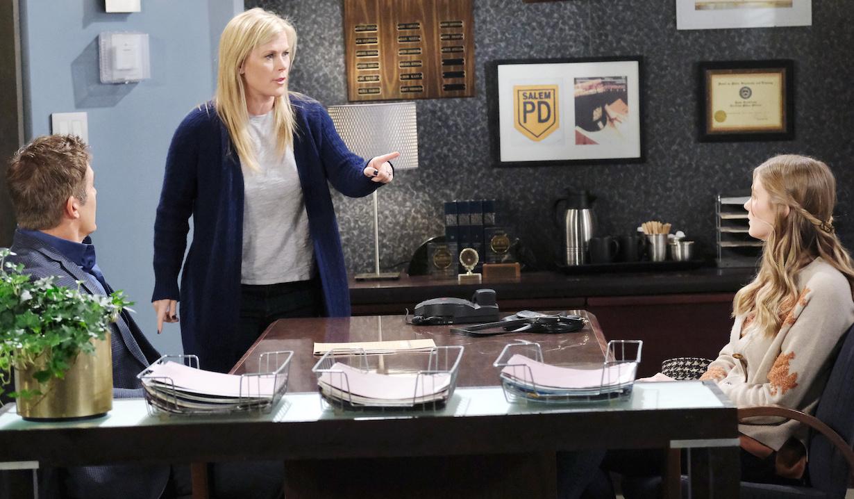 Sami interrupts Rafe's interrogation of Allie on Days of Our Lives