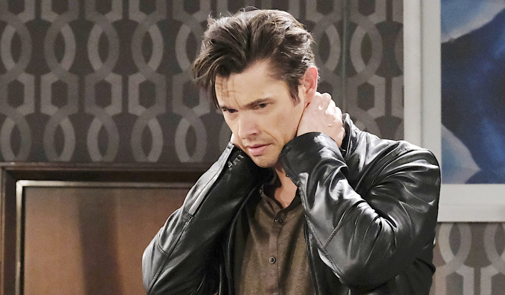 Xander looking distressed on Days of Our Lives