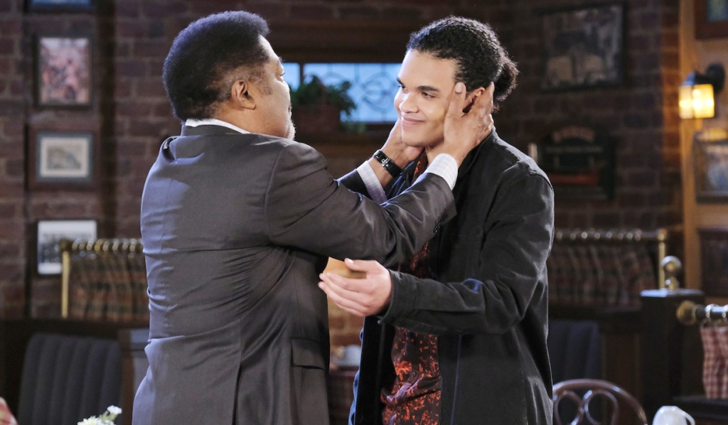 Theo says goodbye to Abe on Days of Our Lives