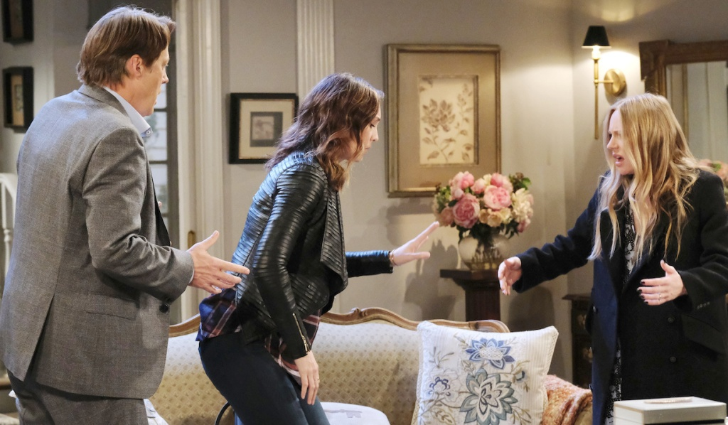 Gwen throws up on Abigail on Days of Our Lives