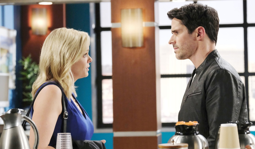 Belle and Shawn discuss Jan at the hospital on Days of Our Lives