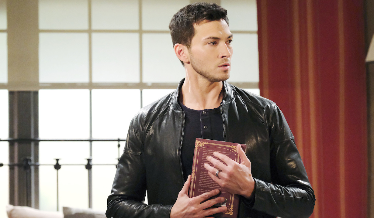 Ben holds Ciara's book on Days of Our Lives