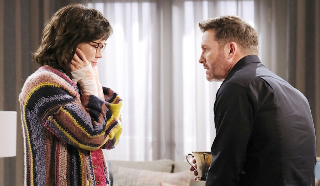Brady and Susan talk on Days of Our Lives