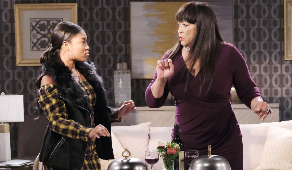 Room service arrives for Chanel and Paulina on Days of Our Lives