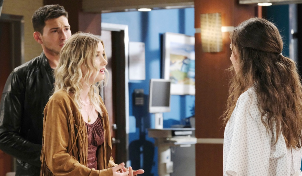 Claire pleads her case to Ciara at the hospital on Days of Our Lives