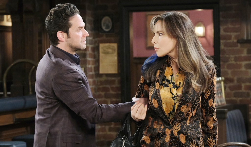 """Jake grabs """"Kate's"""" arm on Days of Our Lives"""