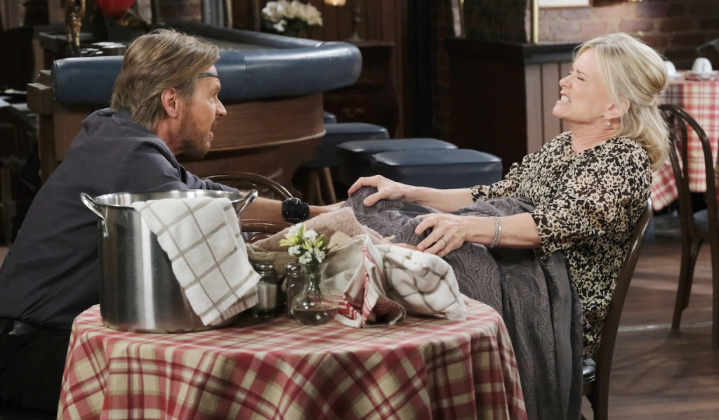 Steve helps Kayla give birth on April Fools' Day Days of Our Lives