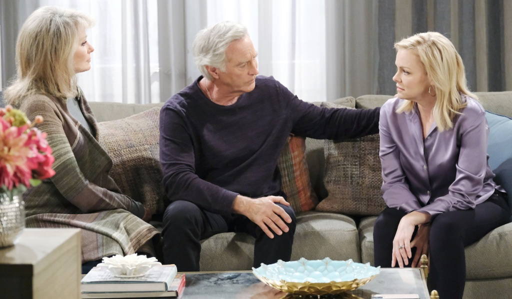 John and Marlena comfort Belle on Days of Our Lives