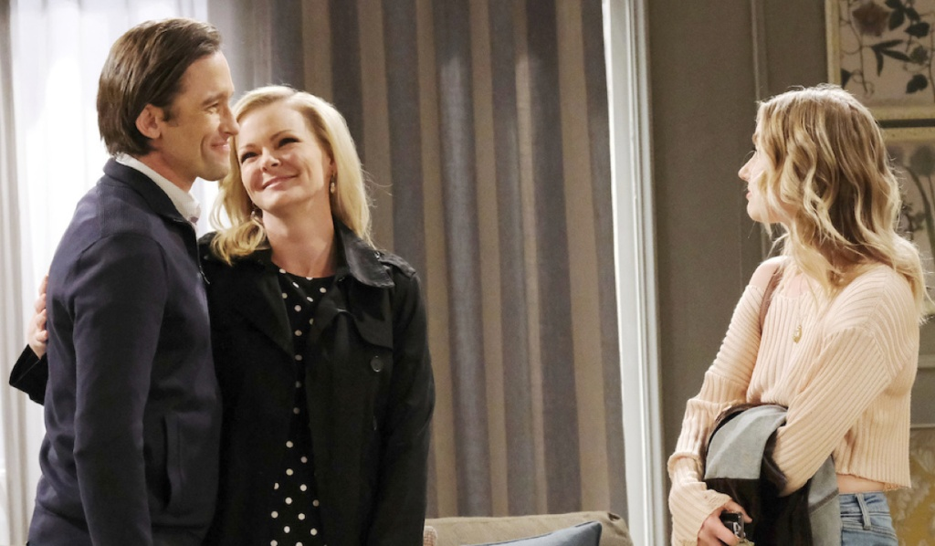 Philip, Belle and Claire happy family on April Fools' Day Days of Our Lives