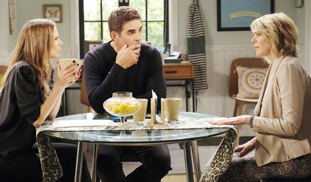 Ava and Rafe listen to Nicole on Days of Our Lives