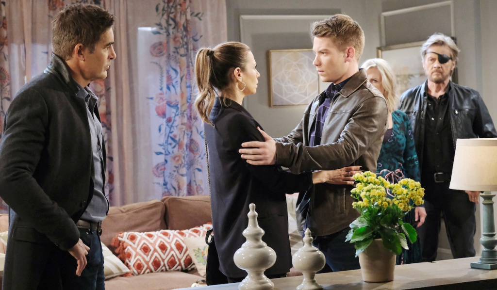 Rafe, Steve and Kayla watch as Ava and Tripp get honest with each other on Days of Our Lives