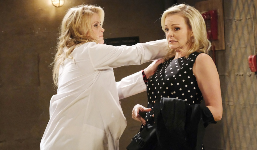 Sami attacks Belle on April Fools' Days on Days of Our Lives