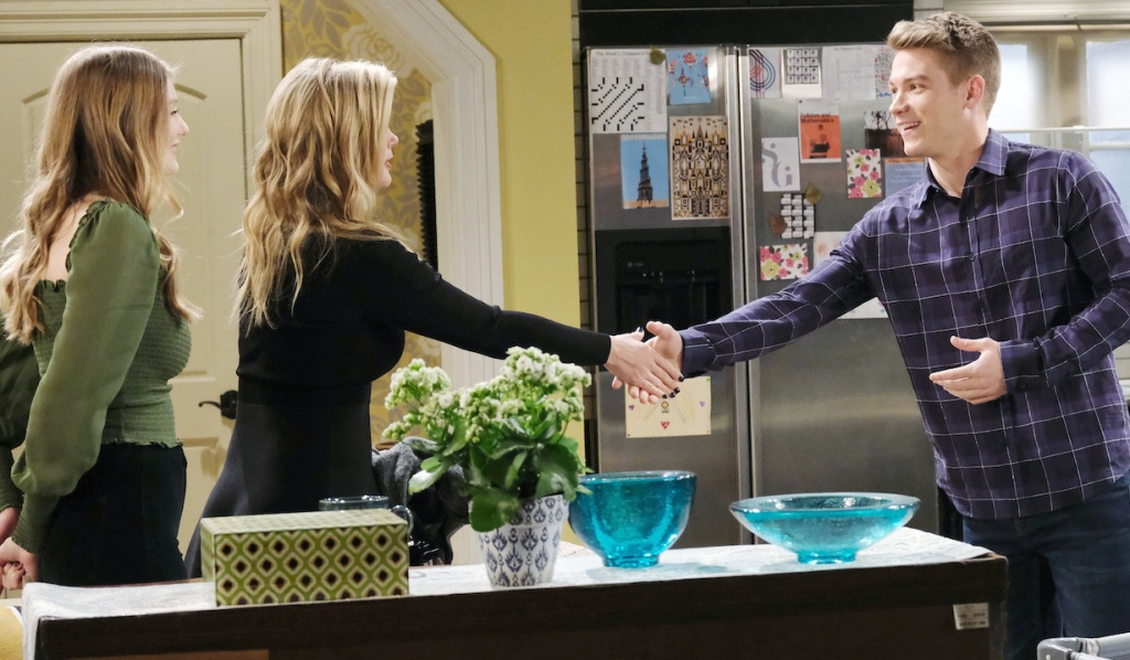Sami and Tripp shake hands on Days of Our Lives