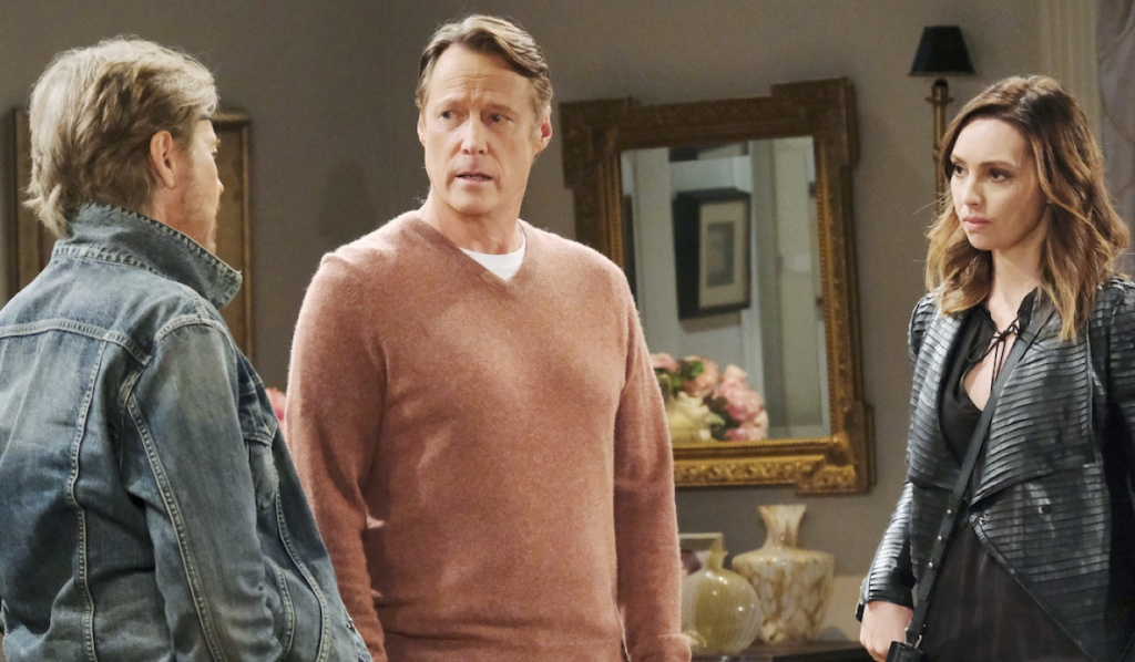 Steve talks to Jack and Gwen on Days of Our Lives