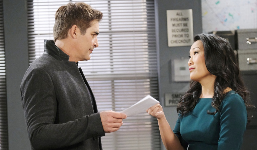 Rafe and Trask at the Salem PD on Days of Our Lives