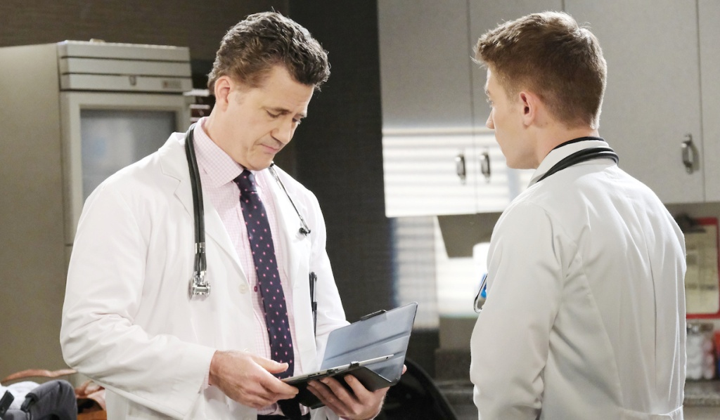 Tripp on rounds with his supervisor on Days of Our Lives