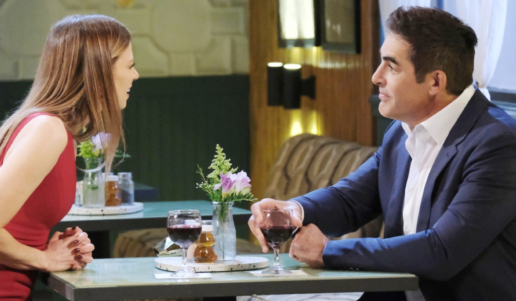 Rafe and Ava on a date at Julie's Place on Days of Our Lives