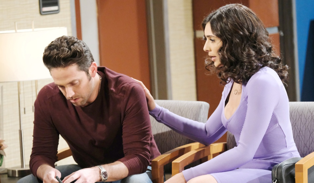 Gabi consoles Jake at the hospital on Days of Our Lives