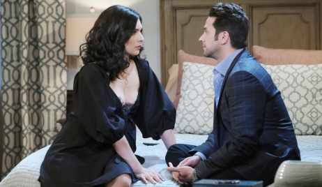 Gabi and Jake have a moment on Days of Our Lives