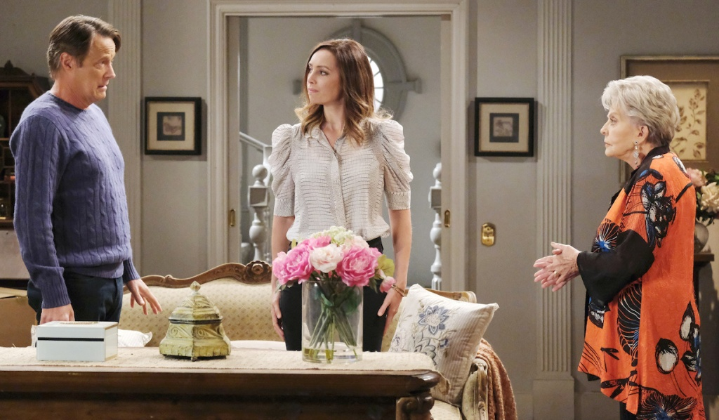 Jack, Gwen and Julie talk at Horton House on Days of Our Lives