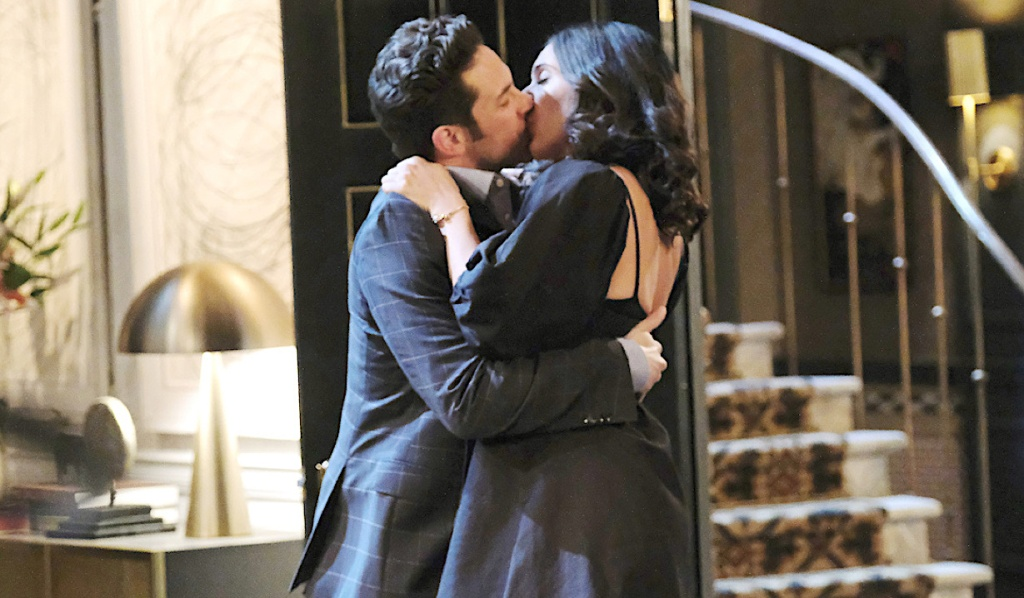 Jake and Gabi kiss on Days of Our Lives