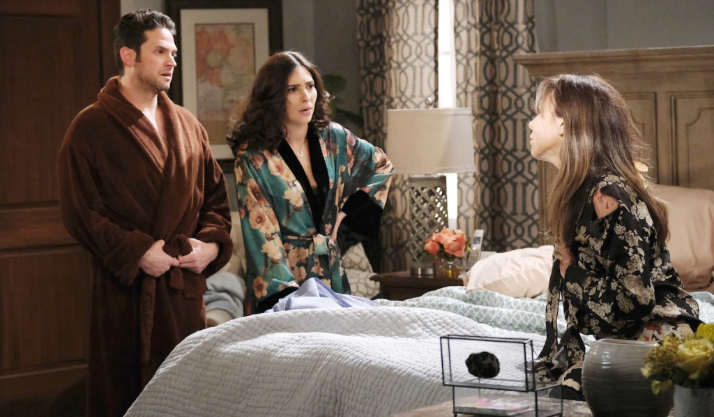 Jake and Gabi are shocked by Kate on Days of Our Lives