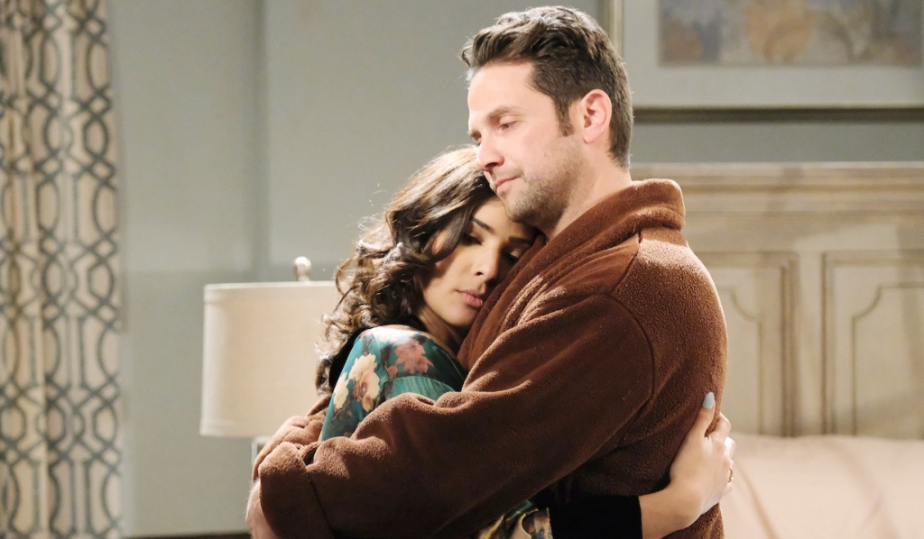 Jake holds Gabi on Days of Our Lives