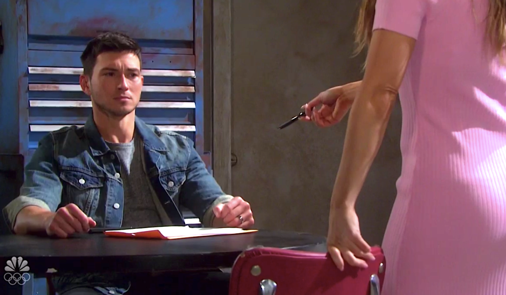 Jordan wants Ben to sign his divorce papers on Days of Our Lives