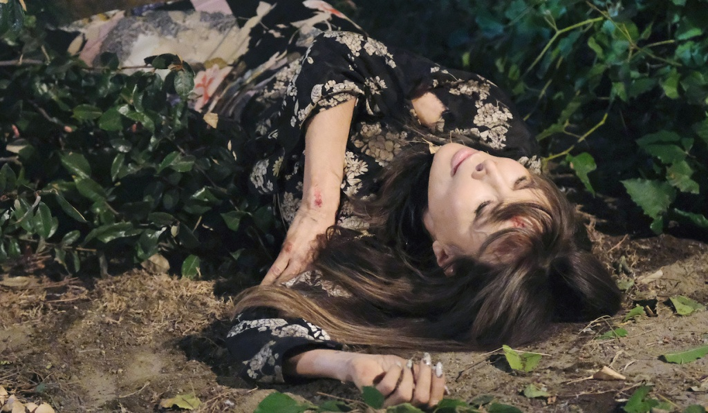 Kate lies lifeless, bleeding in the woods on Days of Our Lives