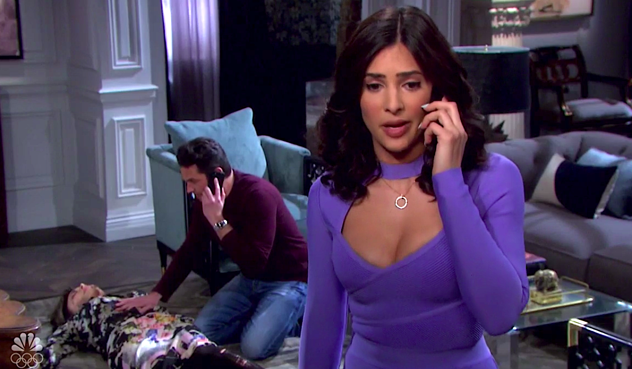 Jake and Gabi make calls while Kate lies passed out on Days of Our Lives