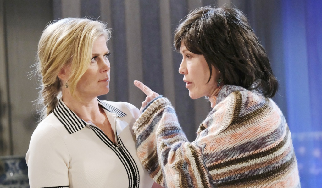 Kristen, dressed as Susan, gets in Sami's face on Days of Our Lives