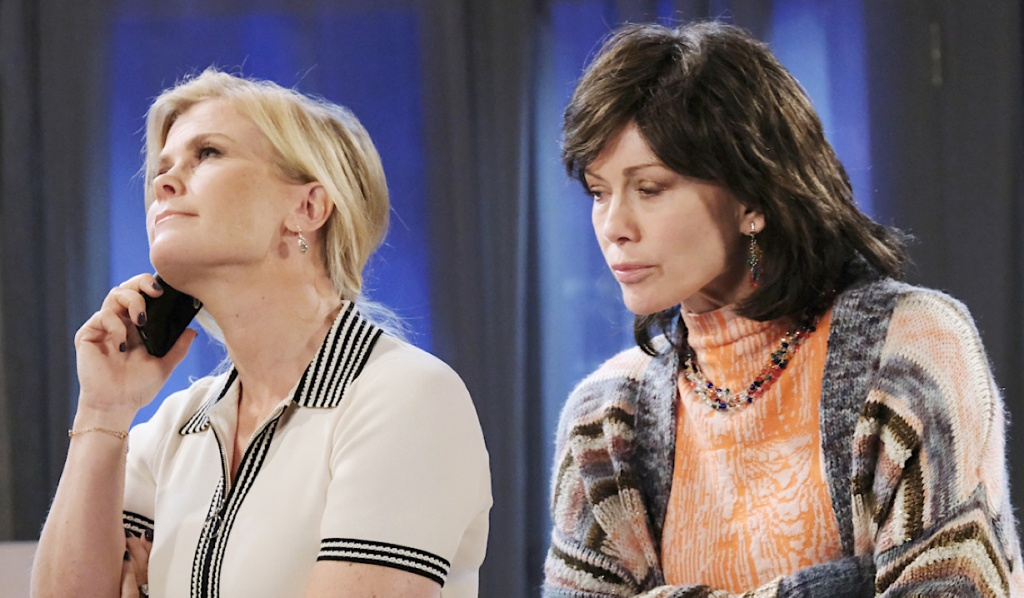 Kristen listens in to Sami's phone conversation on Days of Our Lives