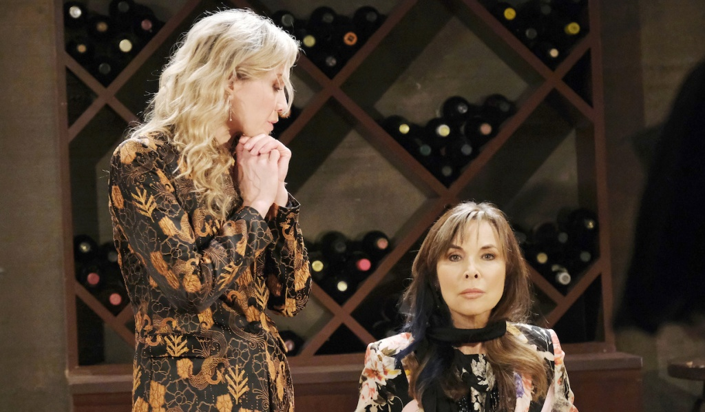 Kristen taunts Kate in the wine cellar on Days of Our Lives