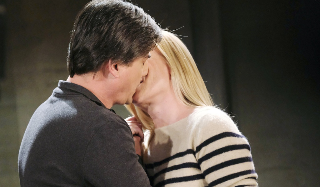 Lucas and Sami kiss on Days of Our Lives