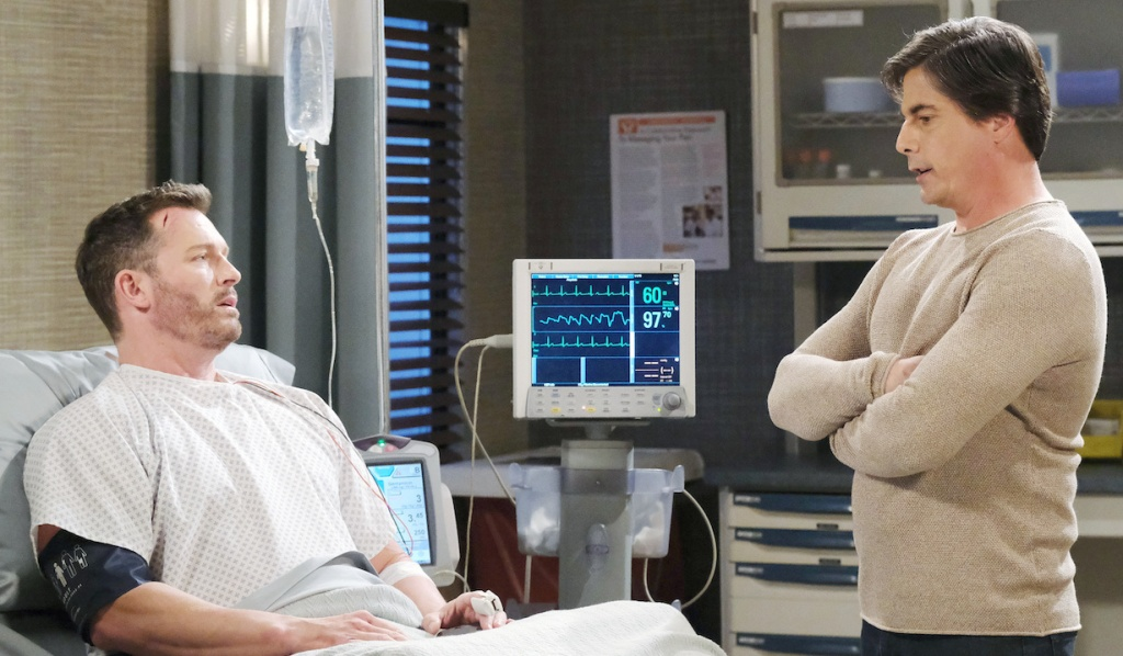 Lucas visits Brady at the Hospital on Days of Our Lives