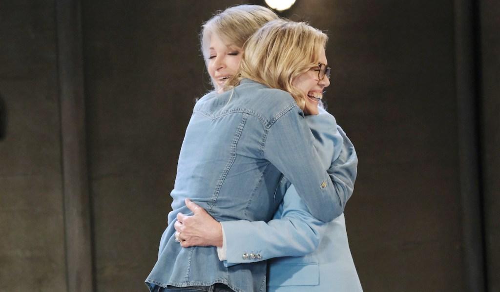 Marlena hugs Susan on Days of Our Lives