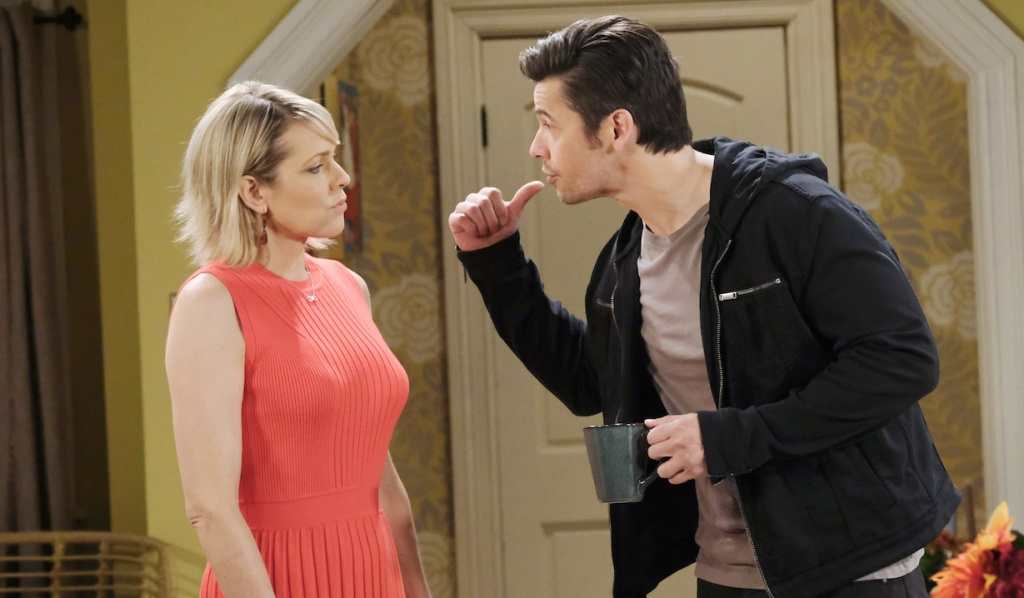 Xander annoys Nicole on Days of Our Lives