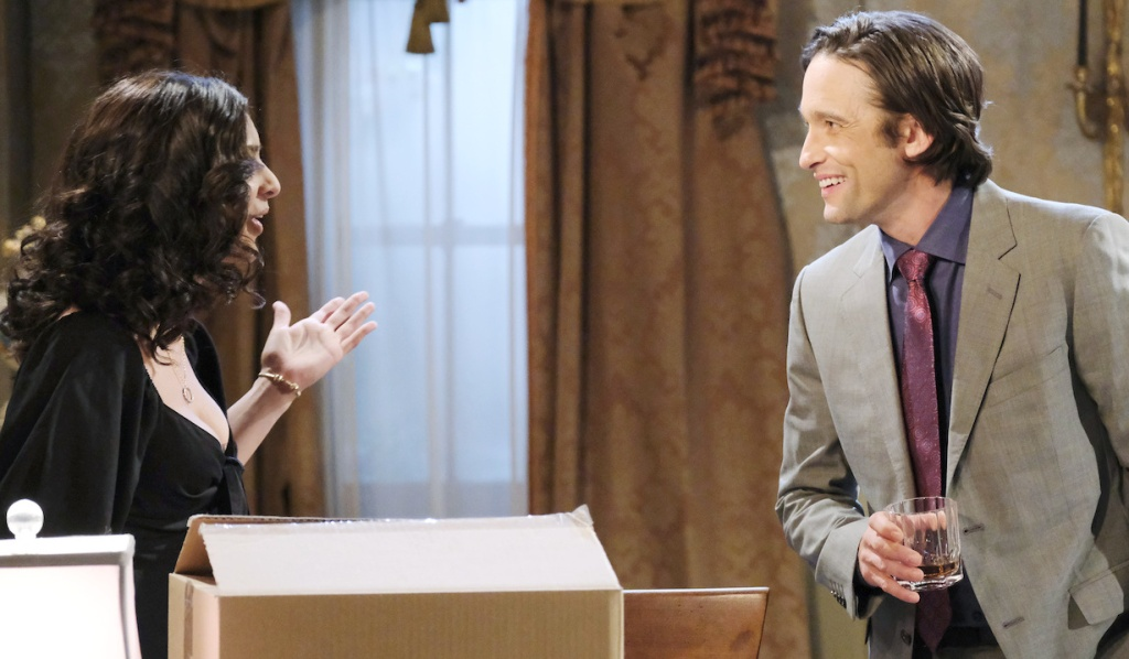 Gabi and Philip share a laugh on Days of Our Lives