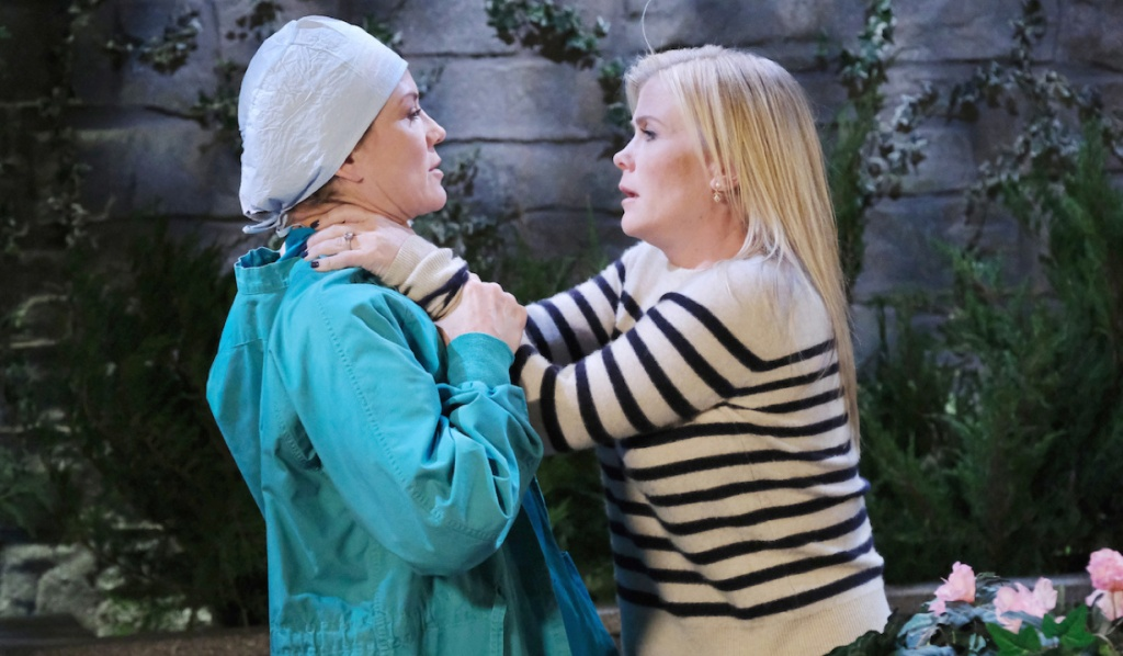 Sami strangles Kristen in the park on Days of Our Lives