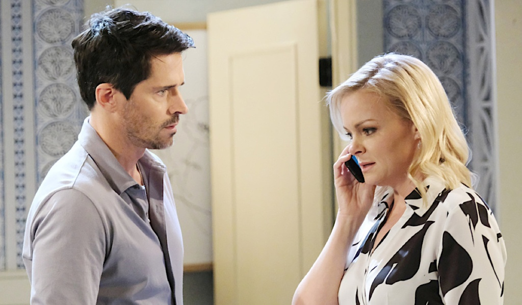 Shawn and Belle call Claire on Days of Our Lives