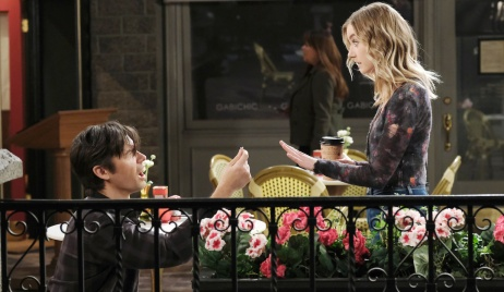 Xander presents a ring to Claire on Days of Our Lives