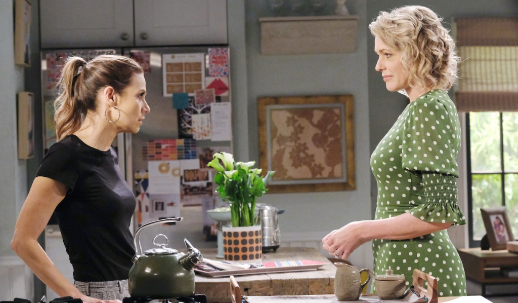 Ava and Nicole talk in Rafe's kitchen on Days of Our Lives