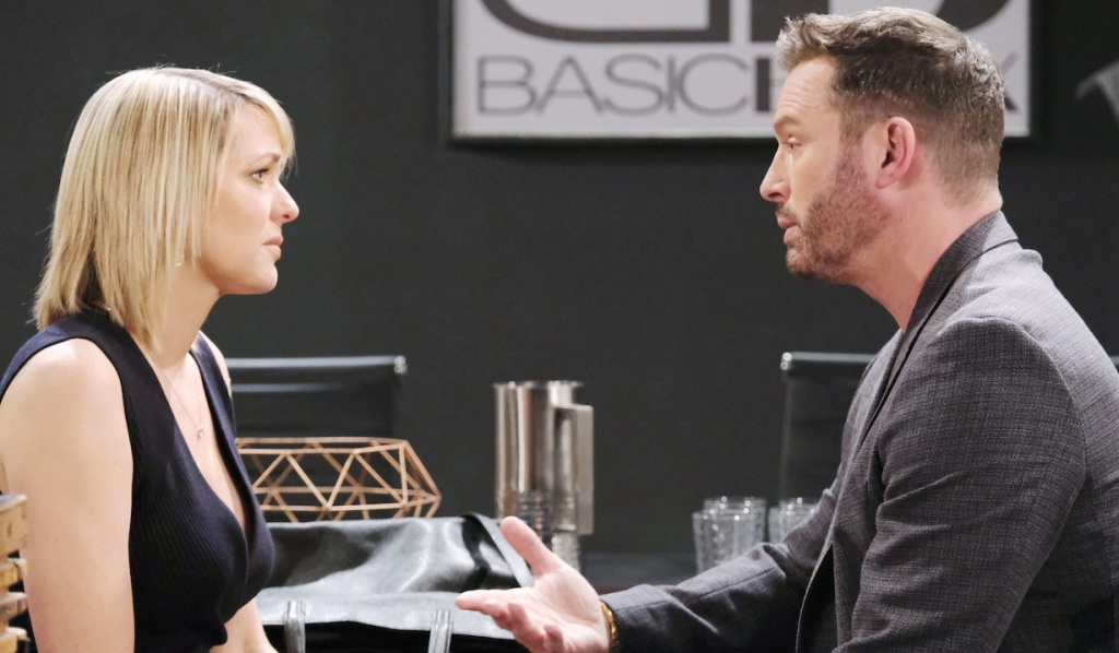 Brady consoles Nicole at Basic Black on Days of Our Lives