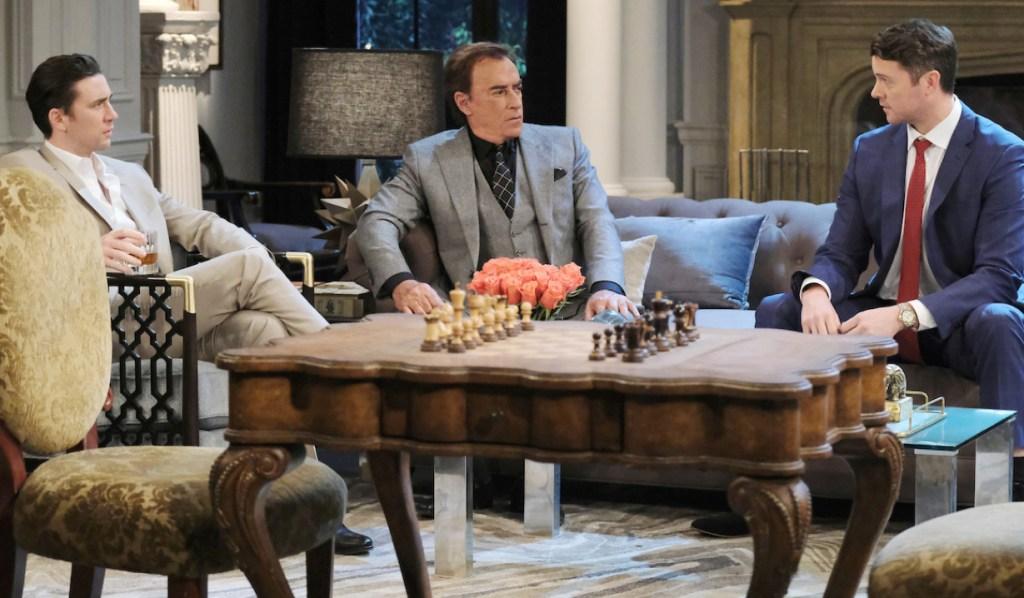 Chad, Tony and EJ at the DiMera mansion