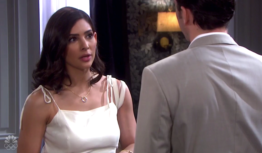 Gabi and Chad argue on Days of Our Lives