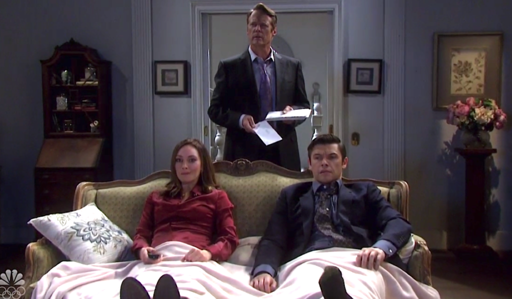Jack finds Gwen and Xander on the couch on Days of Our Lives